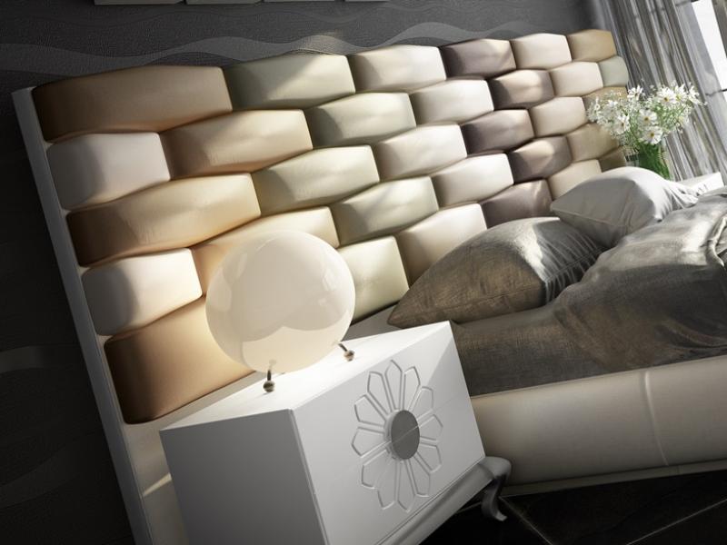 Dormitorio tapizado de dise�o. Mod: FADILA