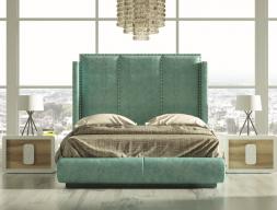Dormitorio tapizado de diseño. Mod: ZENDA