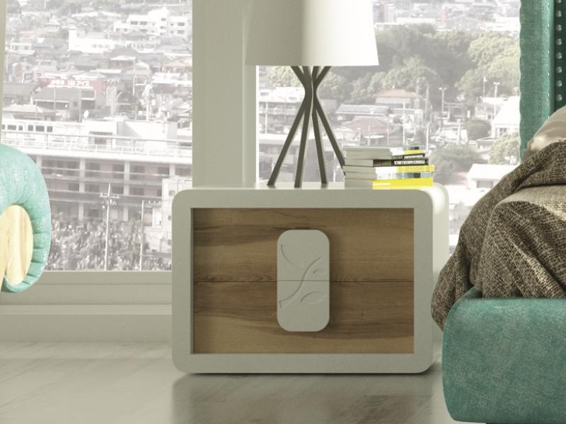 Dormitorio tapizado de dise�o. Mod: ZENDA