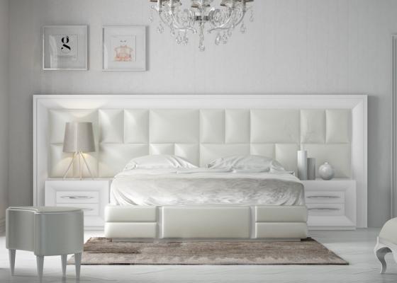 Dormitorio lacado y tapizado Mod. AILEEN