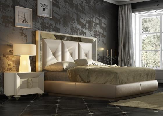 Dormitorio lacado y tapizado. Mod. ONUR
