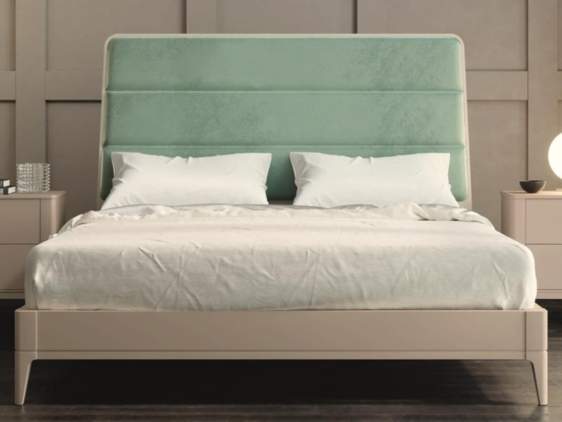 Dormitorio lacado y tapizado .Mod: MARIA