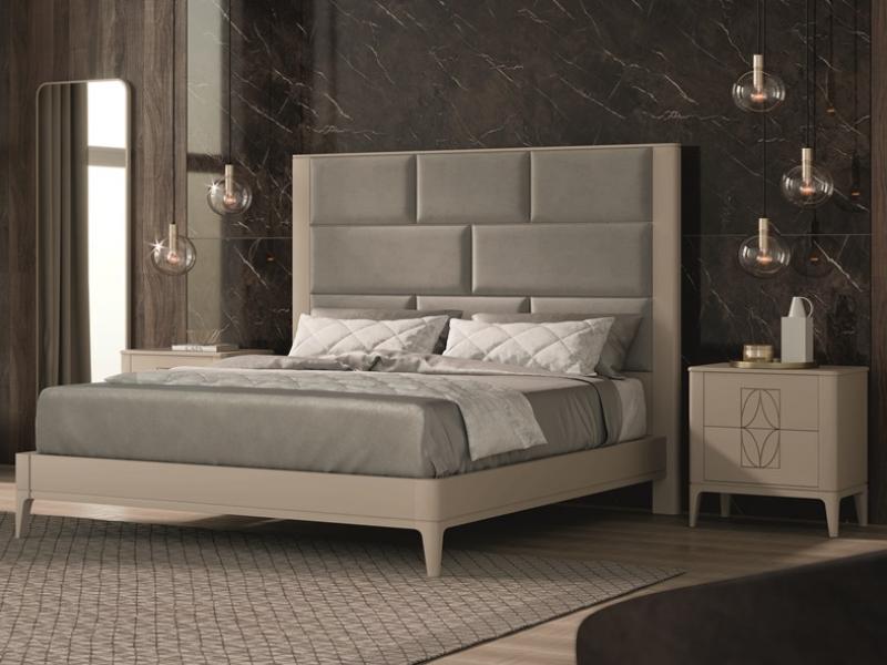 Dormitorio lacado y tapizado .Mod: OLIVIA