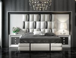 Domitorio lacado y tapizado. Mod: MELINA