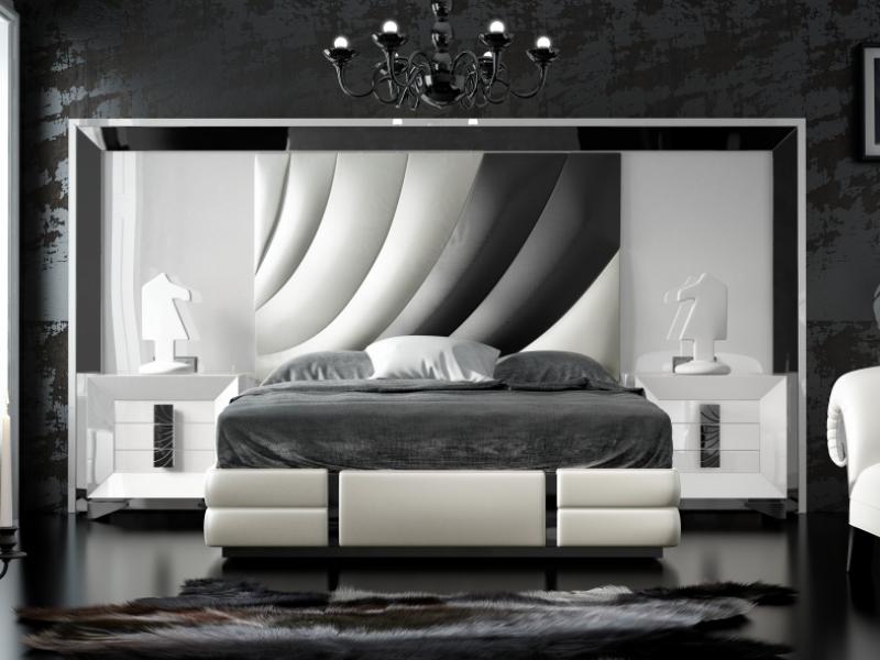Dormitorio lacado y tapizado XXL. Mod: MELIA