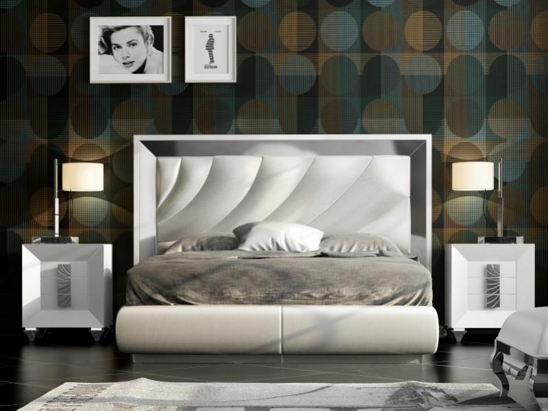 Dormitorio lacado y tapizado.Mod: ZULEMA