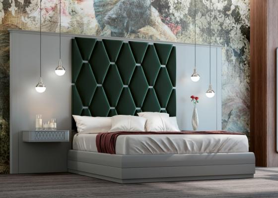 Dormitorio lacado y tapizado XXL. Mod: JALA