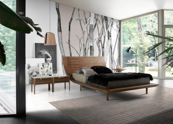 Dormitorio en nogal .Mod: DINA
