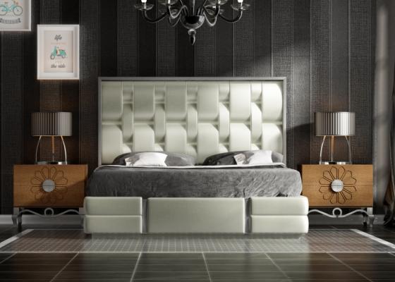 Dormitorio de diseño lacado y tapizado. Mod: ZAREEN