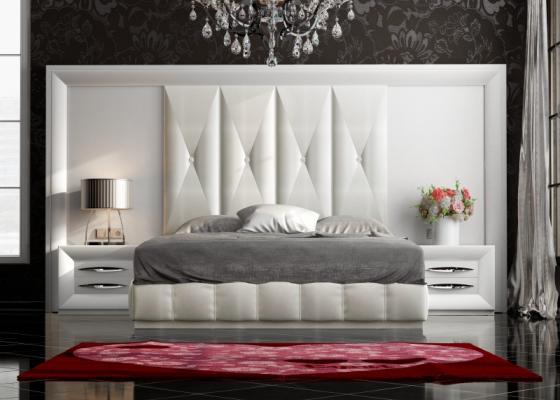 Dormitorio XXL lacado y tapizado. Mod. LAPIS