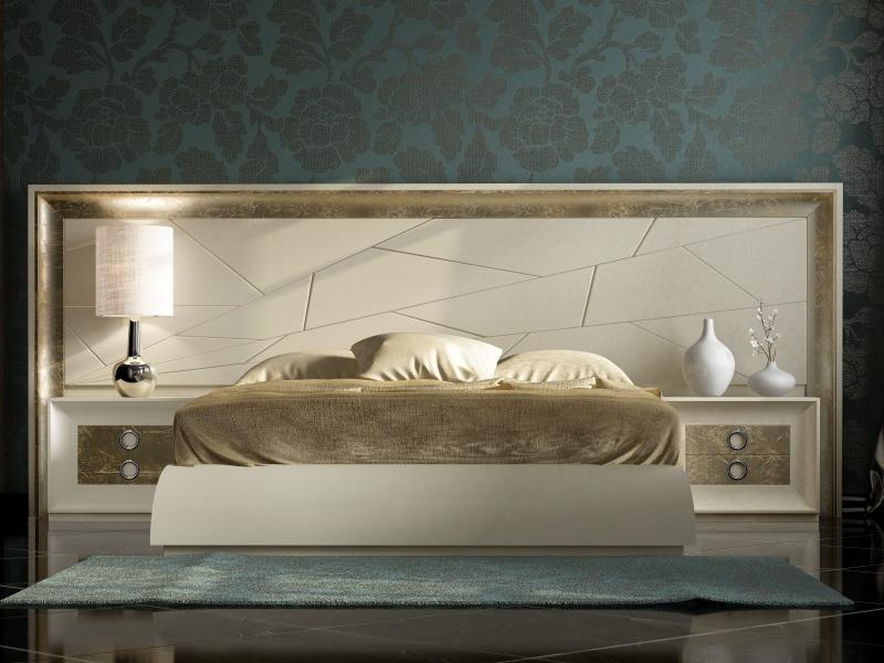 Dormitorio lacado con cabecero largo. Mod: ANNIPE