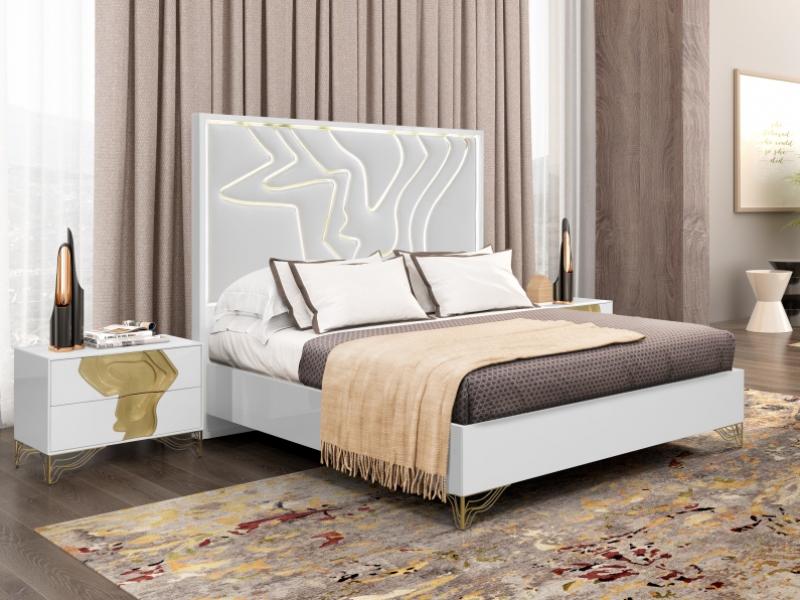 Dormitorio lacado y tapizado. Mod: TERRA