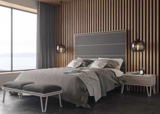 Dormitorio de diseño tapizado .Mod: POSITANO