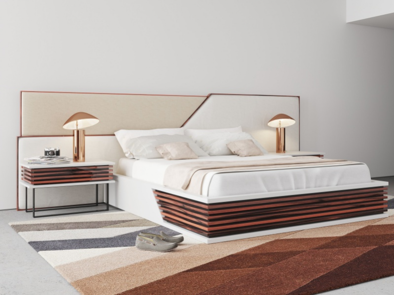 Dormitorio de dise�o tapizado .Mod: AJACCIO