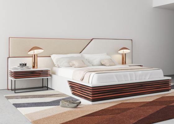 Dormitorio de diseño tapizado .Mod: AJACCIO