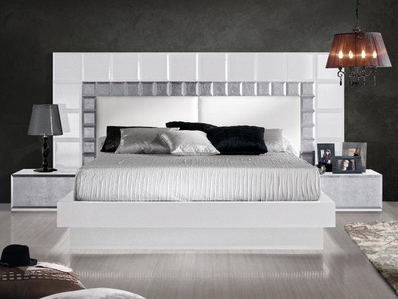 Dormitorio lacado de dise�o .Mod: NATASSIA BLANCO