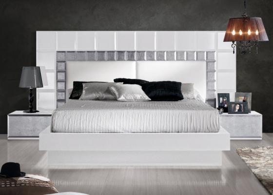 Dormitorio lacado de diseño .Mod: NATASSIA BLANCO