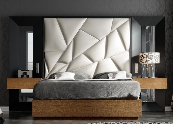 Dormitorio de diseño lacado y tapizado. Mod: TAHIRA