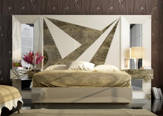 Dormitorio de diseño lacado . Mod: BADRA