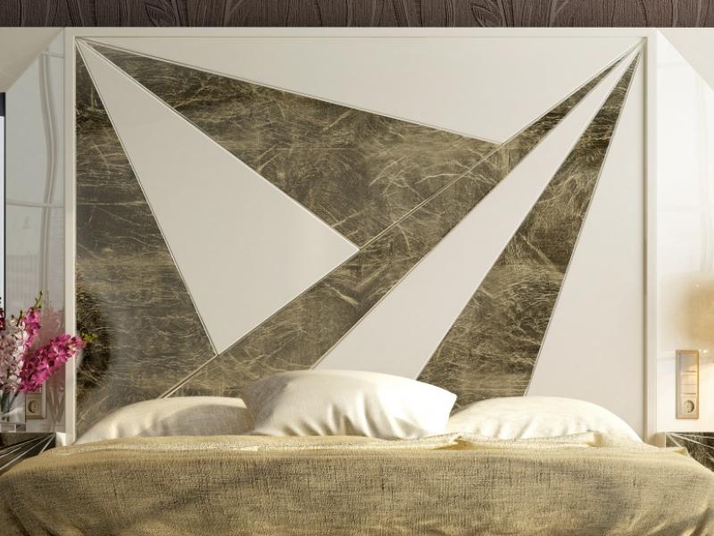 Dormitorio de dise�o lacado . Mod: BADRA