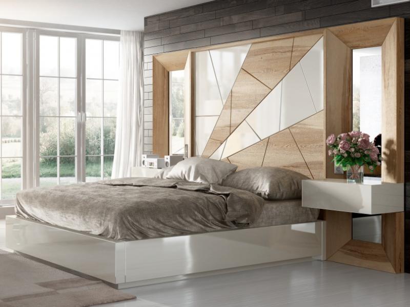 Dormitorio de dise�o en roble. Mod: AMAL