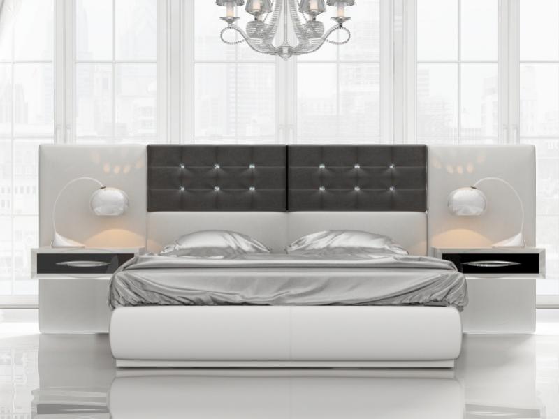 Dormitorio de dise�o tapizado y lacado. Mod: ALEA