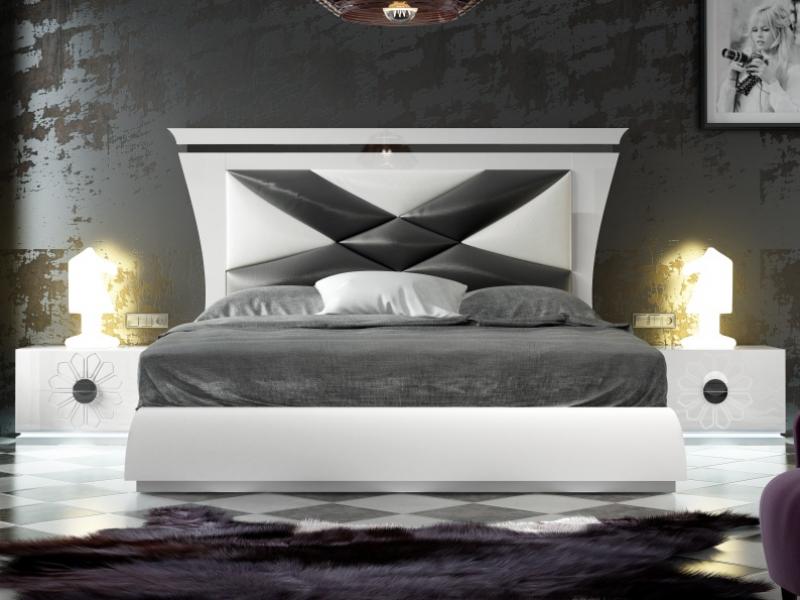 Dormitorio de dise�o lacado y tapizado. Mod: THARAA