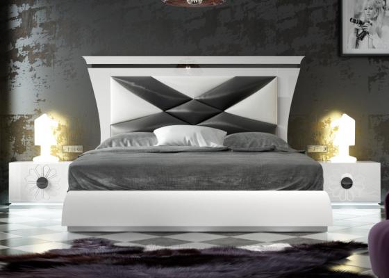 Dormitorio de diseño lacado y tapizado. Mod: THARAA