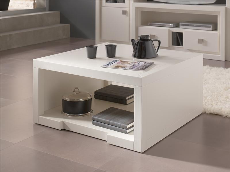 Decorar cuartos con manualidades mesa de centro cuadrada for Mesa cuadrada blanca
