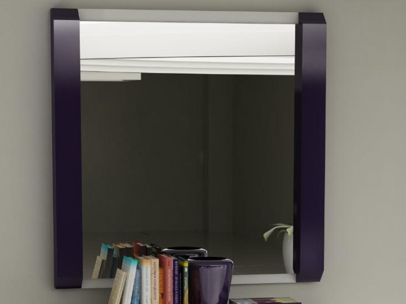 Espejo recto con muros acabados en lacado malva 169 modelo: KL60205