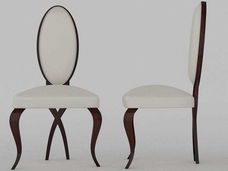 Juego de 2 sillas tapizadas y lacadas . Mod. MESINA