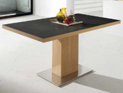 Mesa de comedor  extensible con tapa cerámica. Mod. ESMERALD CERAMICA