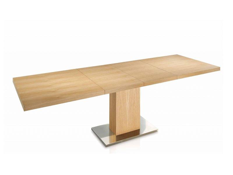 Mesa de comedor  extensible. Mod. ESMERALD MADERA