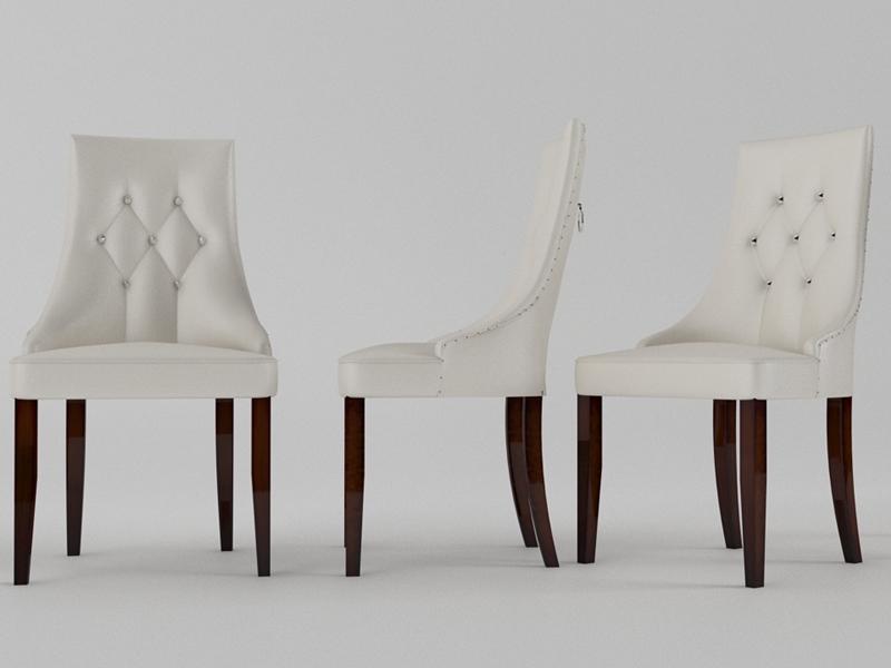Juego de 2 sillas  tapizadas. Mod. R99