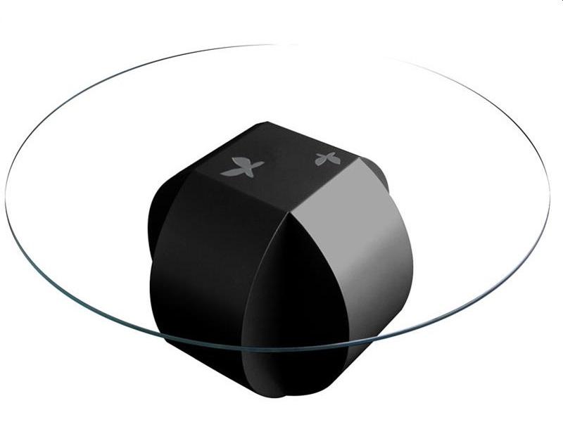 Mesa de centro con tapa de cristal. Mod. ESFERA