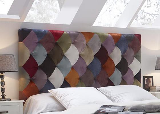 Cabecero tapizado estilo patchwork. Mod. TOULOUSE