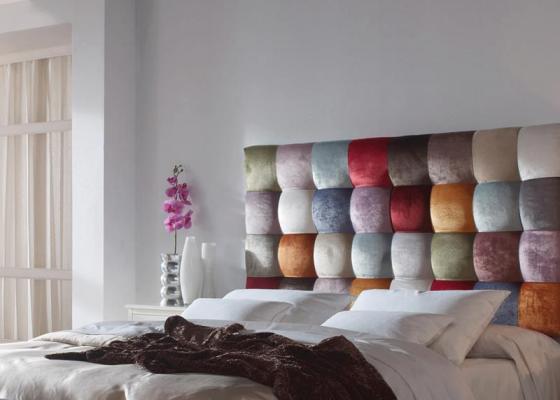 Cabecero tapizado estilo patchwork. Mod. VENEZIA