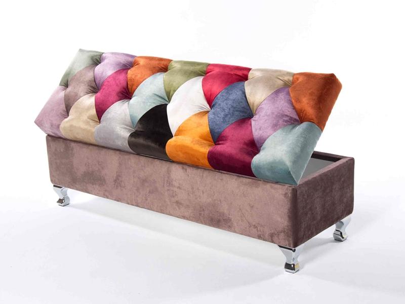 Arc�n tapizado estilo patchwork. Mod. TOULOUSE