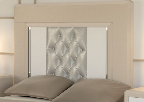 Cabecero lacado  y tapizado. Mod: MADEIRA