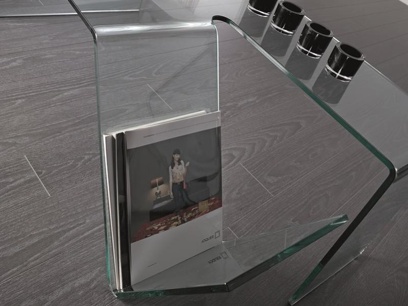 Mesa de centro de cristal templado  , mod: MACBETH