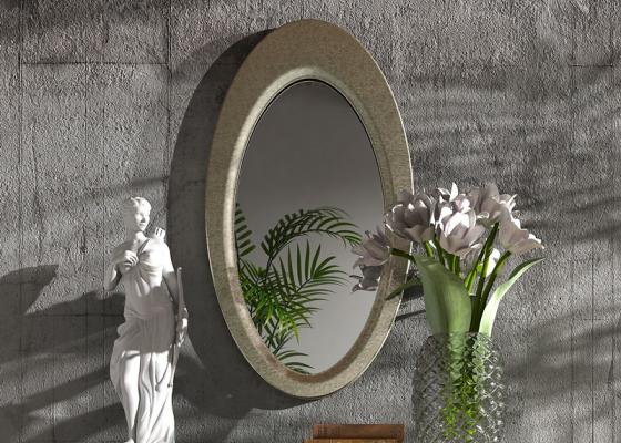 Espejo ovalo , mod: OLEANA