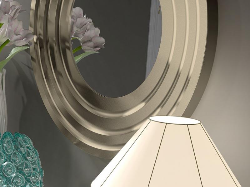 Espejo redondo  mod: FLEUR