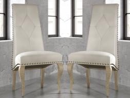 Juego de 2 sillas tapizadas con tachas, mod: GA1201