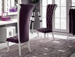 Silla tapizada y lacada, mod: DAMA