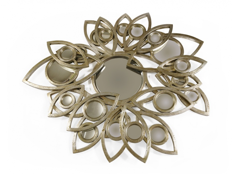 Espejo en pan de plata envejecido: NEAPOLI