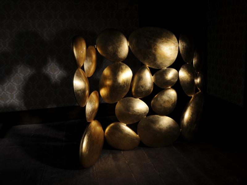 Biombo plegable , mod: GOLD