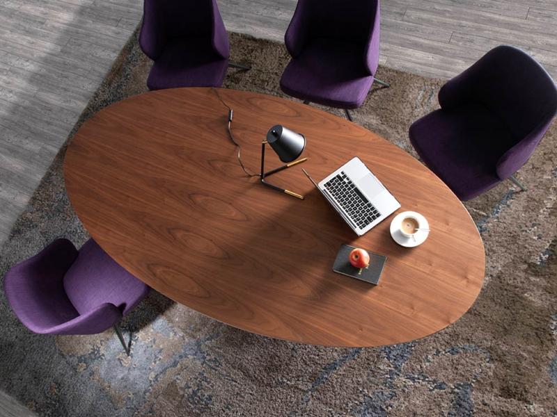 Mesa de comedor, mod: LEON NOGAL