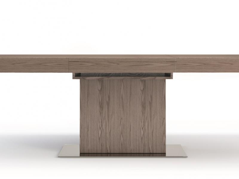 Mesa de comedor extensible, mod: LEON RECTA NOGAL