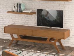 Mueble TV de estilo vintage, con 4 cajones y bandeja inferior. Mod.  TWIGGY