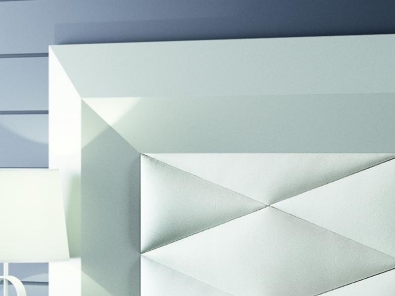 Cabecero lacado y tapizado, mod: GORDON BLANCO